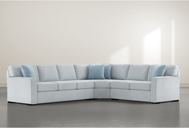 Aspen Tranquil Foam 3 Piece Sectional With Left Arm Facing Sofa - 360