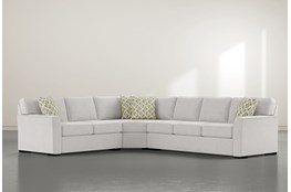 "Aspen Sterling Foam 3 Piece 125"" Sectional With Right Arm Facing Sofa"