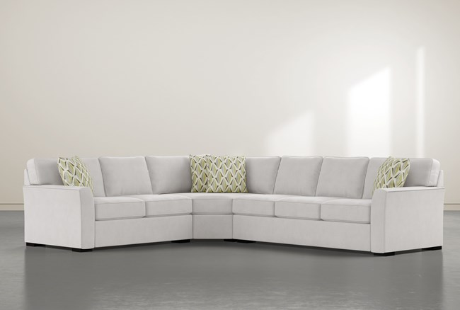 """Aspen Sterling Foam 3 Piece 125"""" Sectional With Right Arm Facing Sofa - 360"""