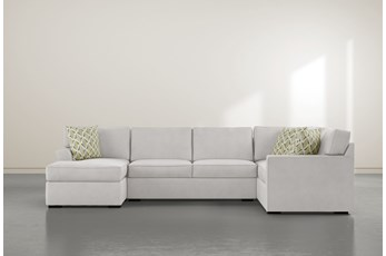 "Aspen Sterling Foam 3 Piece 134"" Sectional With Left Arm Facing Chaise"