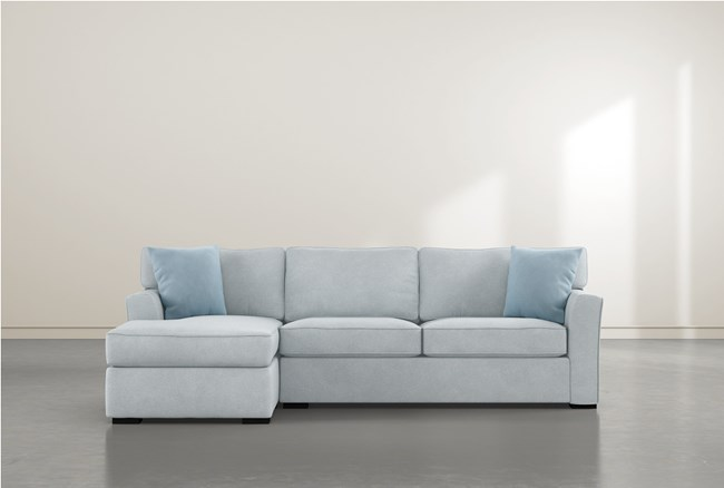 """Aspen Tranquil Foam 2 Piece 105"""" Sectional With Left Arm Facing Chaise - 360"""