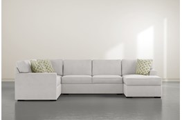 "Aspen Sterling Foam 3 Piece 134"" Sectional With Right Arm Facing Chaise"