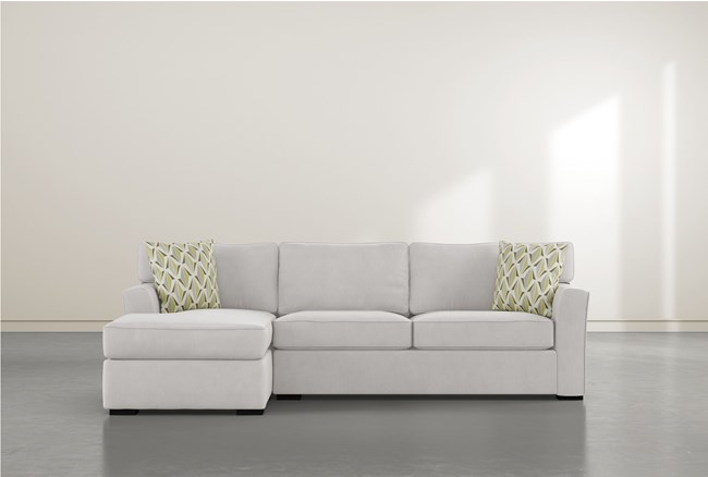 """Aspen Sterling Foam 2 Piece 105"""" Sectional With Right Arm Facing Chaise - 360"""