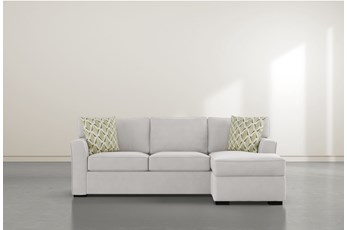 """Aspen Sterling Foam 93"""" Sofa With Reversible Chaise"""