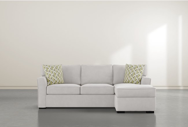 """Aspen Sterling Foam 93"""" Sofa With Reversible Chaise - 360"""