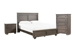 Marco Charcoal California King 3 Piece Bedroom Set