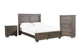 Marco Charcoal Eastern King 3 Piece Bedroom Set