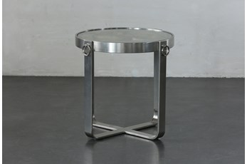 Glass + Reclaimed Nautical Accent Table