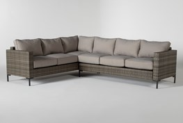 """Hayes Outdoor Banquette 78"""" Sectional"""