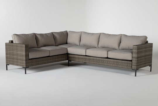 "Hayes Outdoor Banquette 78"" Sectional"