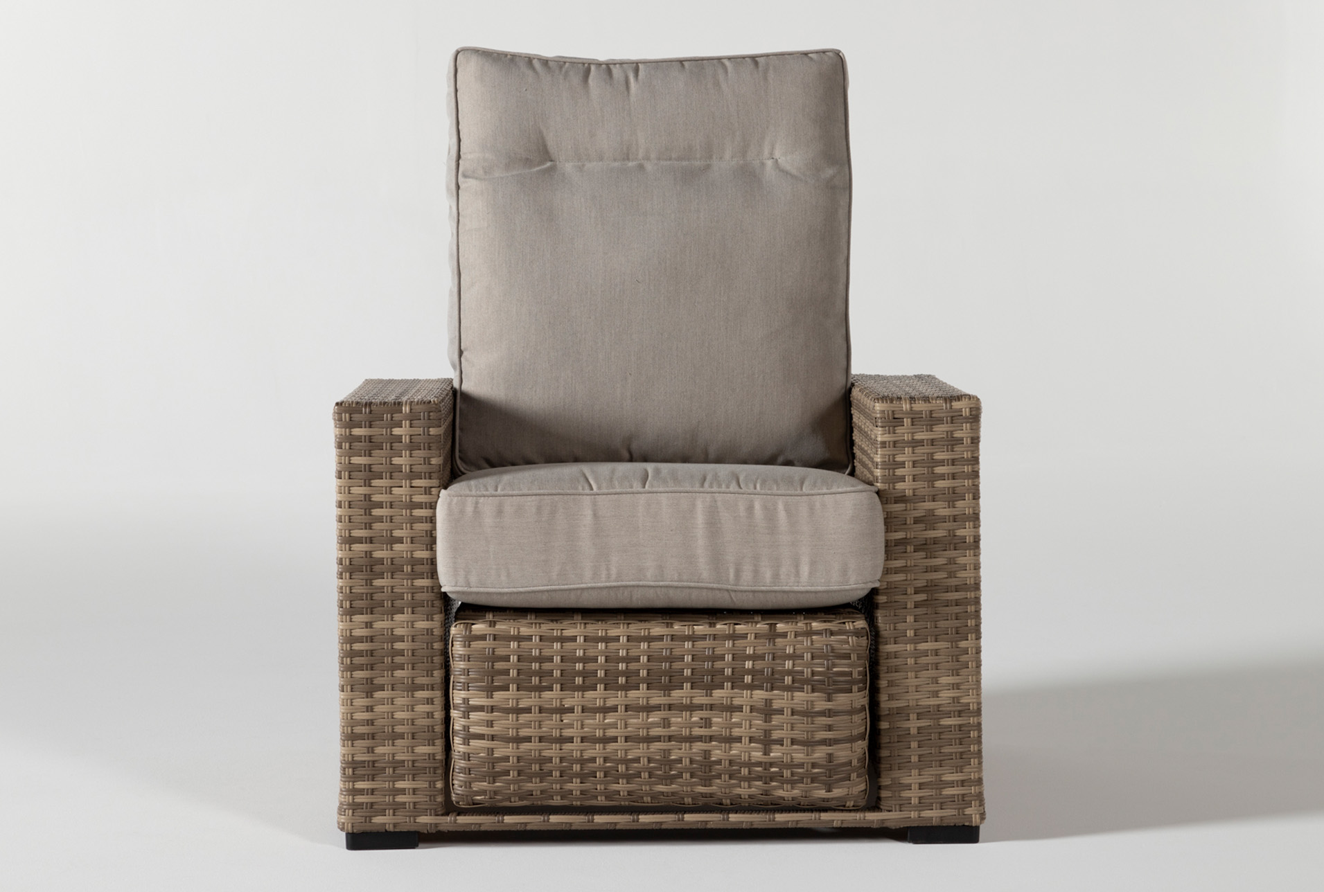 Picture of: Capri Outdoor Push Back Reclining Chair Living Spaces