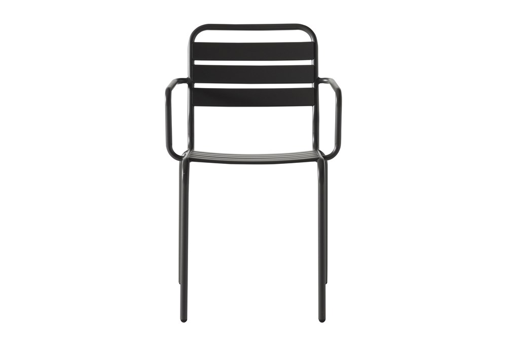 Flip Top Outdoor Charcoal Dining Chair