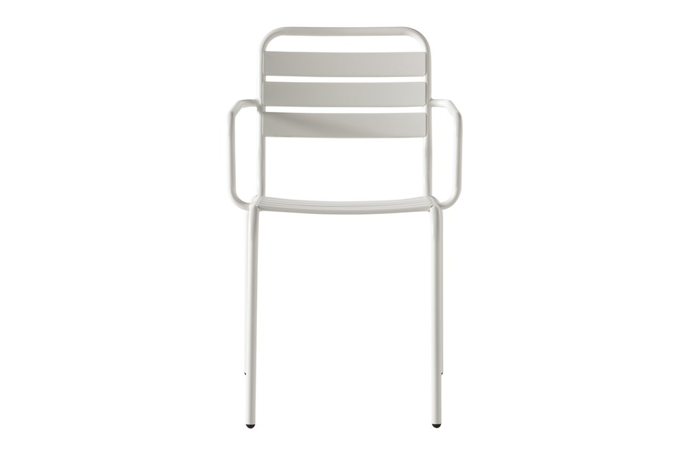 Flip Top Outdoor White Dining Chair
