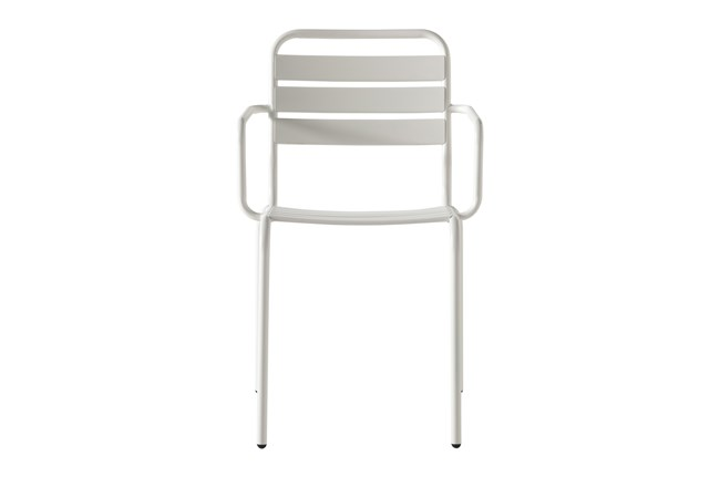 Flip Top Outdoor White Dining Chair - 360