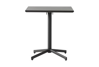 Flip Top Outdoor Charcoal Square Bistro Table