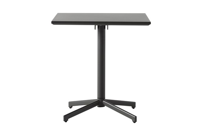 Flip Top Outdoor Charcoal Square Bistro Table - 360