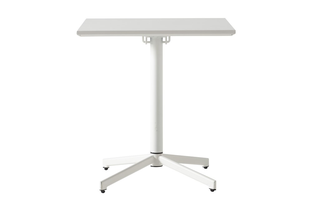 Flip Top Outdoor White Square Bistro Table