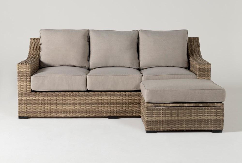 Capri Outdoor Sofa And Storage Ottoman