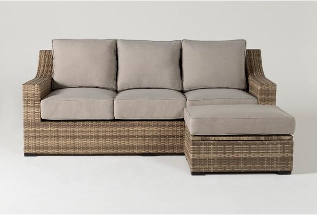 Capri Outdoor Sofa And Storage Ottoman - 360