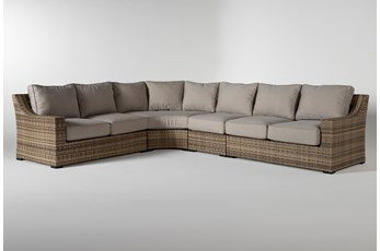 "Capri Outdoor 4 Piece 136"" Sectional"