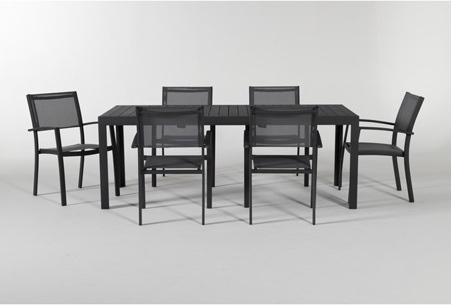 Union Outdoor 7 Piece Ext Dining Set With Sling Chairs - 360