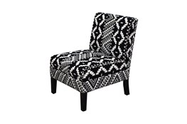 Black + White Tribal Pattern Armless Chair