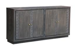 Grey Print Block 2 Door Cabinet