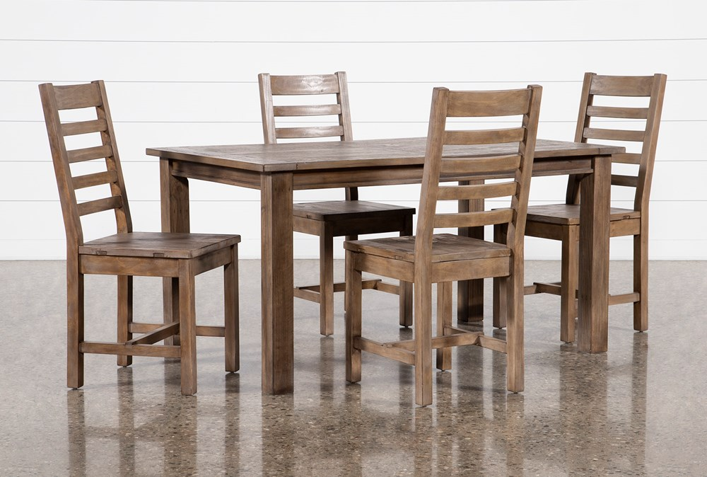 Highlands 5 Piece Dining Set With Caden Chairs