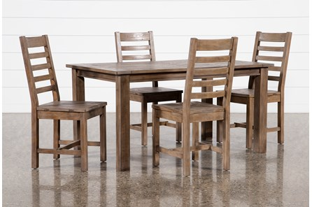Highlands 5 Piece Dining Set With Caden Chairs - Main