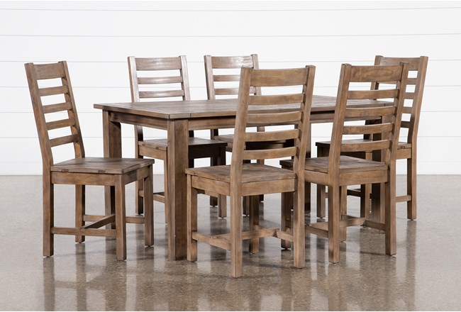Highlands 7 Piece Dining Set With Caden Chairs - 360
