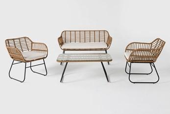 Boho Outdoor 4 Piece Lounge Set
