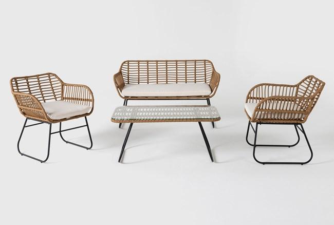 Boho Outdoor 4 Piece Lounge Set - 360