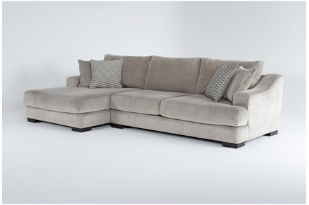 Lodge Fog 2 Piece Sectional With Left Arm Facing Oversized Chaise