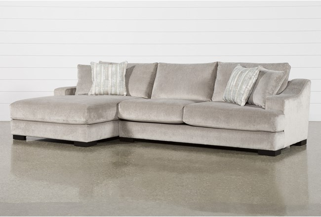 Lodge Fog 2 Piece Sectional With Left Arm Facing Oversized Chaise - 360
