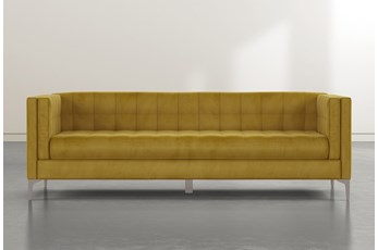 Wesley II Gold Velvet Estate Sofa
