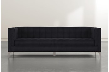 Wesley II Dark Blue Velvet Estate Sofa
