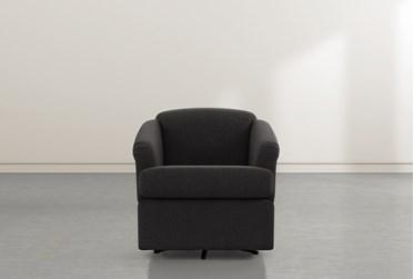 Aiko Flint Swivel Accent Chair