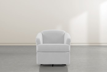 Aiko Grey Swivel Accent Chair