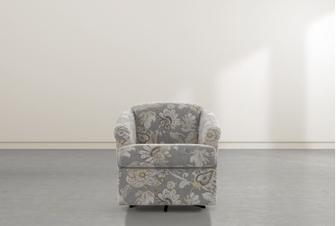 Aiko Granite Swivel Accent Chair