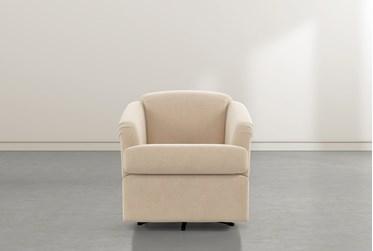 Aiko Almond Swivel Accent Chair