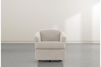 Aiko Taupe Swivel Accent Chair