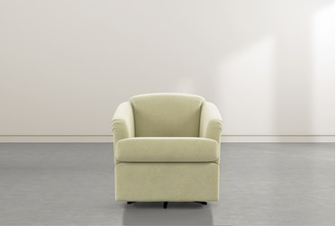 Aiko Spring Swivel Accent Chair