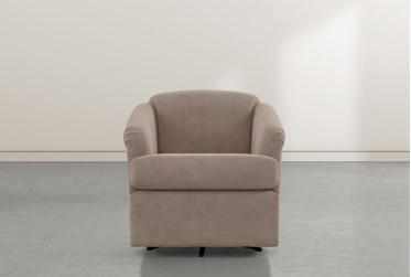 Aiko Putty Swivel Accent Chair