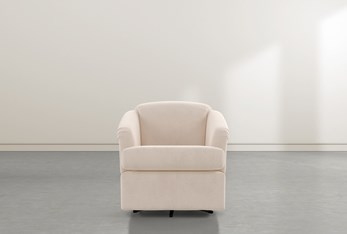 Aiko Flax Swivel Accent Chair