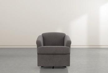 Aiko Bark Swivel Accent Chair