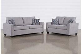 Reid Smoke 2 Piece Living Room Set