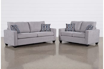 Reid Smoke 2 Piece Living Room Set