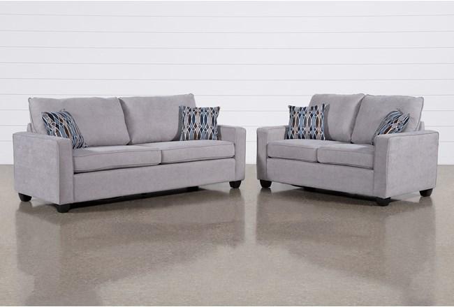 Reid Smoke 2 Piece Living Room Set - 360