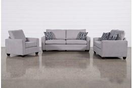 Reid Smoke 3 Piece Living Room Set