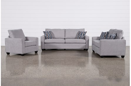 Reid Smoke 3 Piece Living Room Set